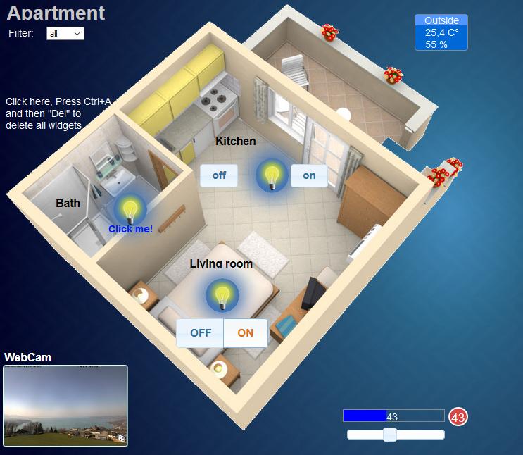 hausautomatisierung smarthome selber machen mit mqtt und iobroker vis visualisierung. Black Bedroom Furniture Sets. Home Design Ideas